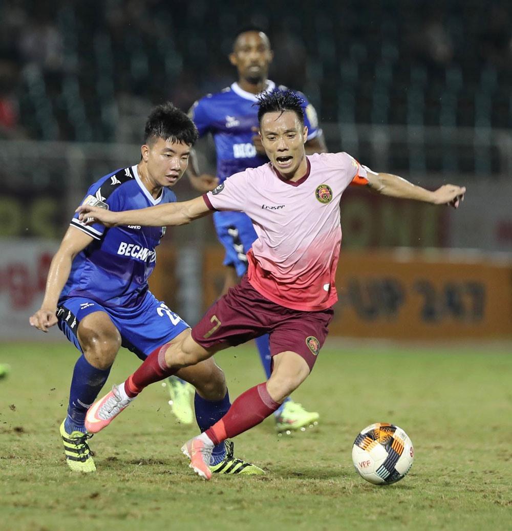 Sài Gòn FC mất oan một bàn thắng hợp lệ, dẫn đến trận thua tức tưởi 0-1 trước B. Bình Dương ngay trên sân nhà?. Ảnh: VPF