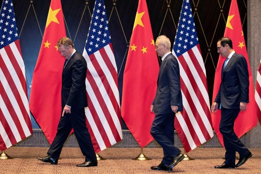 Trưởng đoàn đàm phán Mỹ và Trung Quốc tại vòng đàm phán ở Thượng Hải. Ảnh: Reuters.