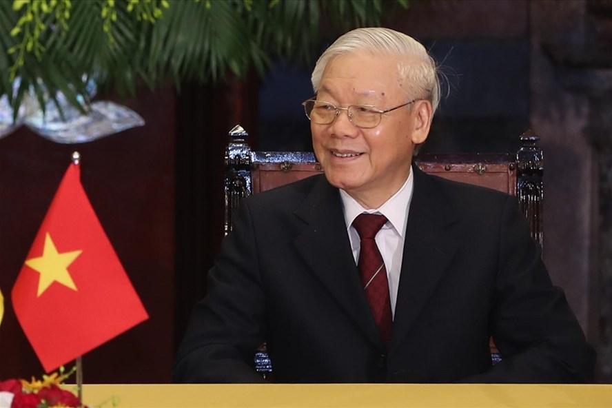 Tổng Bí thư, Chủ tịch Nước Nguyễn Phú Trọng. Ảnh: Sơn Tùng.