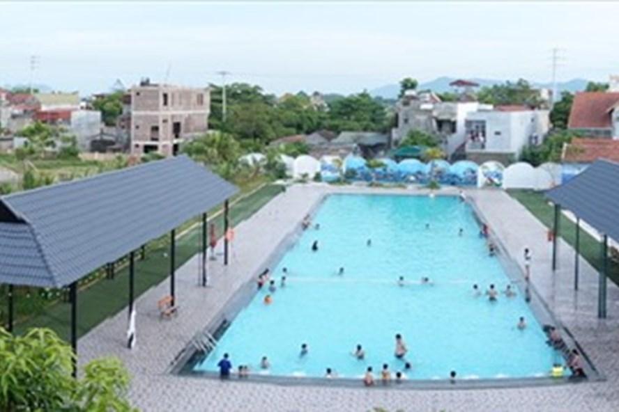 Một góc Trung tâm Văn hóa Thể dục Thể thao và Vui chơi Gải trí Vũ Gia. Ảnh: Lam Quân