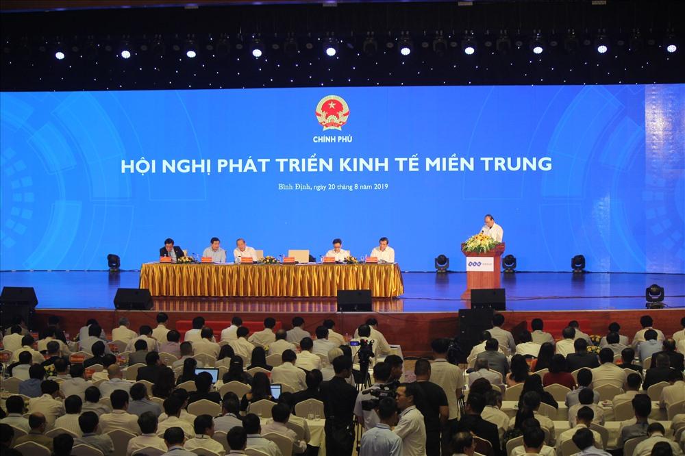 Toàn cảnh Hội nghị phát triển kinh tế miền Trung. Ảnh: N.T