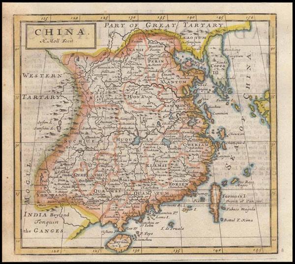 Bản đồ Trung Quốc - Herman Moll, London, England (1723).