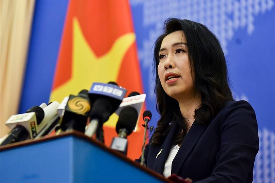 Bà Lê Thị Thu Hằng - Người phát ngôn Bộ Ngoại giao Việt Nam. Ảnh: Nhật Hạ.