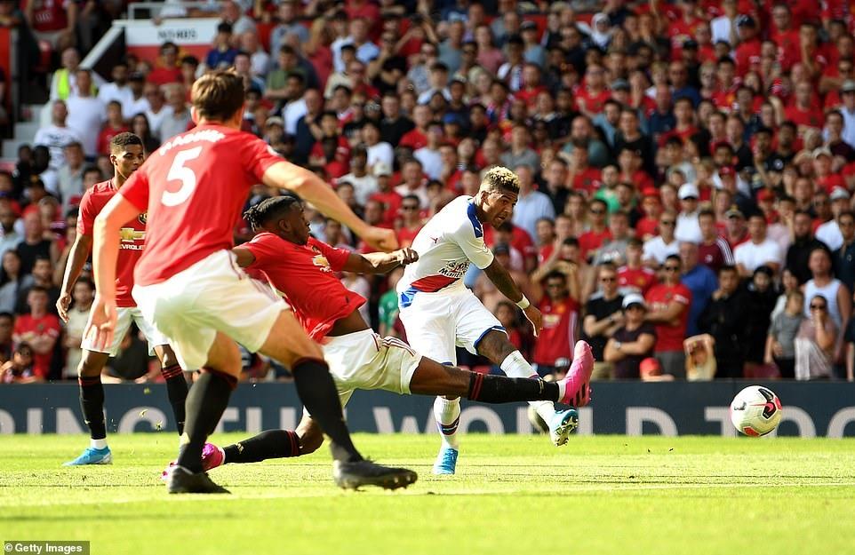 Palace có chiến thắng đầu tiên trước Man United trong lịch sử Premier League. Ảnh: Getty.