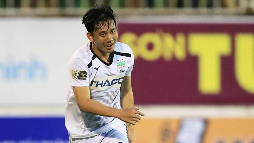 Minh Vương đã có bàn thắng quan trọng cho Hoàng Anh Gia Lai. Ảnh: TL