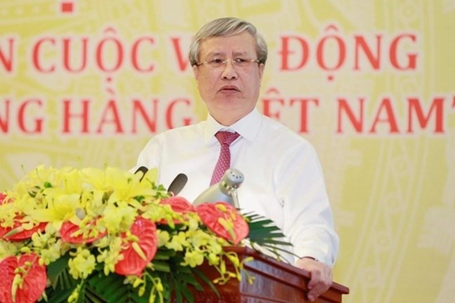 Ủy viên Bộ Chính trị, Thường trực Ban Bí thư Trần Quốc Vượng. Ảnh: Quang Vinh.