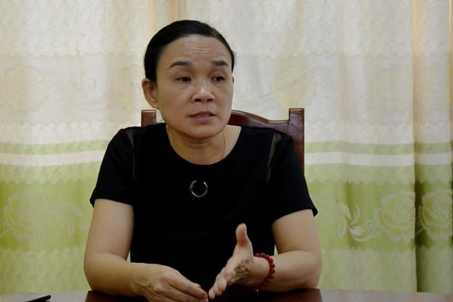 Bà Đỗ Thị Chăm - Hiệu trưởng trường Mầm non Tam Đồng, Mê Linh, Vĩnh Phúc. Ảnh: PV