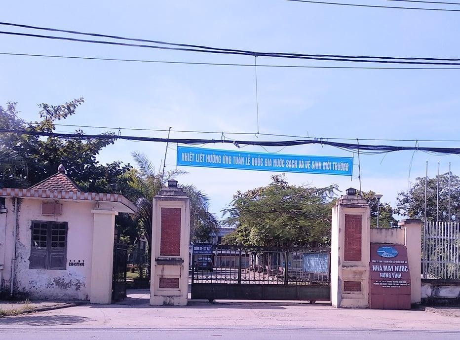 Nhà máy nước Hưng Vĩnh thuộc Công ty CP cấp nước Nghệ An.