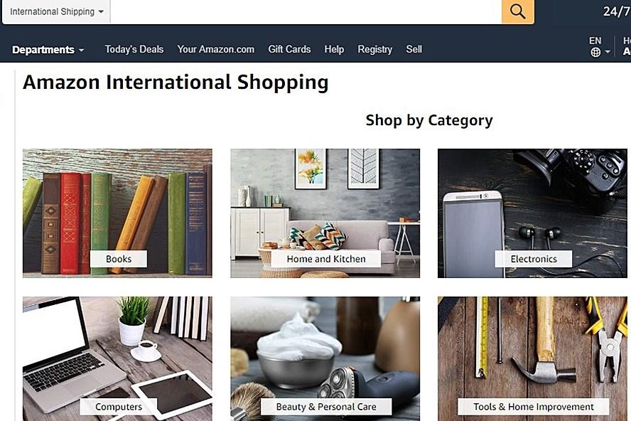 Số lượng doanh nghiệp Việt bán hàng trên Amazon còn rất khiếm tốn, chỉ mới có vài trăm công ty (ảnh chụp màn hình trang thương mại điện tử Amazon.com).