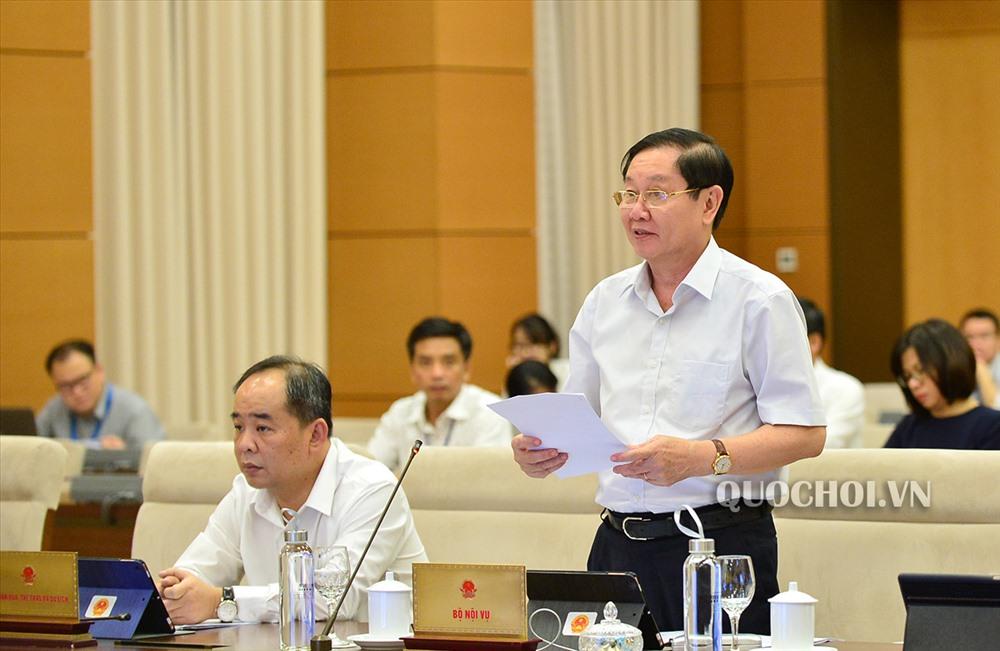 Bộ trưởng Bộ Nội vụ Lê Vĩnh Tân. Ảnh Quochoi.vn