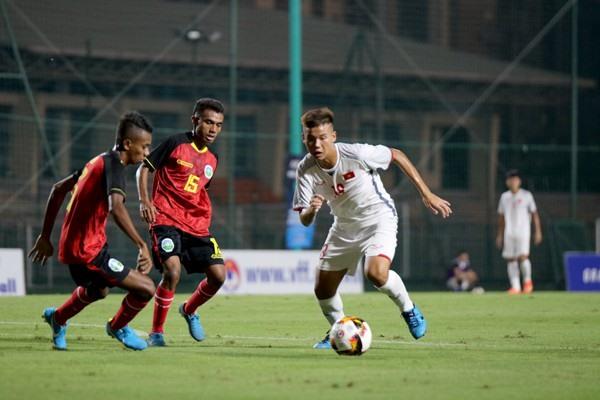 ĐT U16 Việt Nam dễ dàng vượt qua U16 Timor Leste với tỷ số 2-0. (Ảnh: VFF)