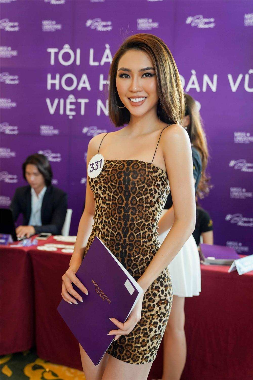 Tường Linh từng tham gia The Face, và đạt danh hiệu Hoa hậu sắc đẹp châu Á. Cô cũng từng đại diện Việt Nam tham gia Hoa hậu Liên lục địa. Ảnh: Tô Thanh Tân.