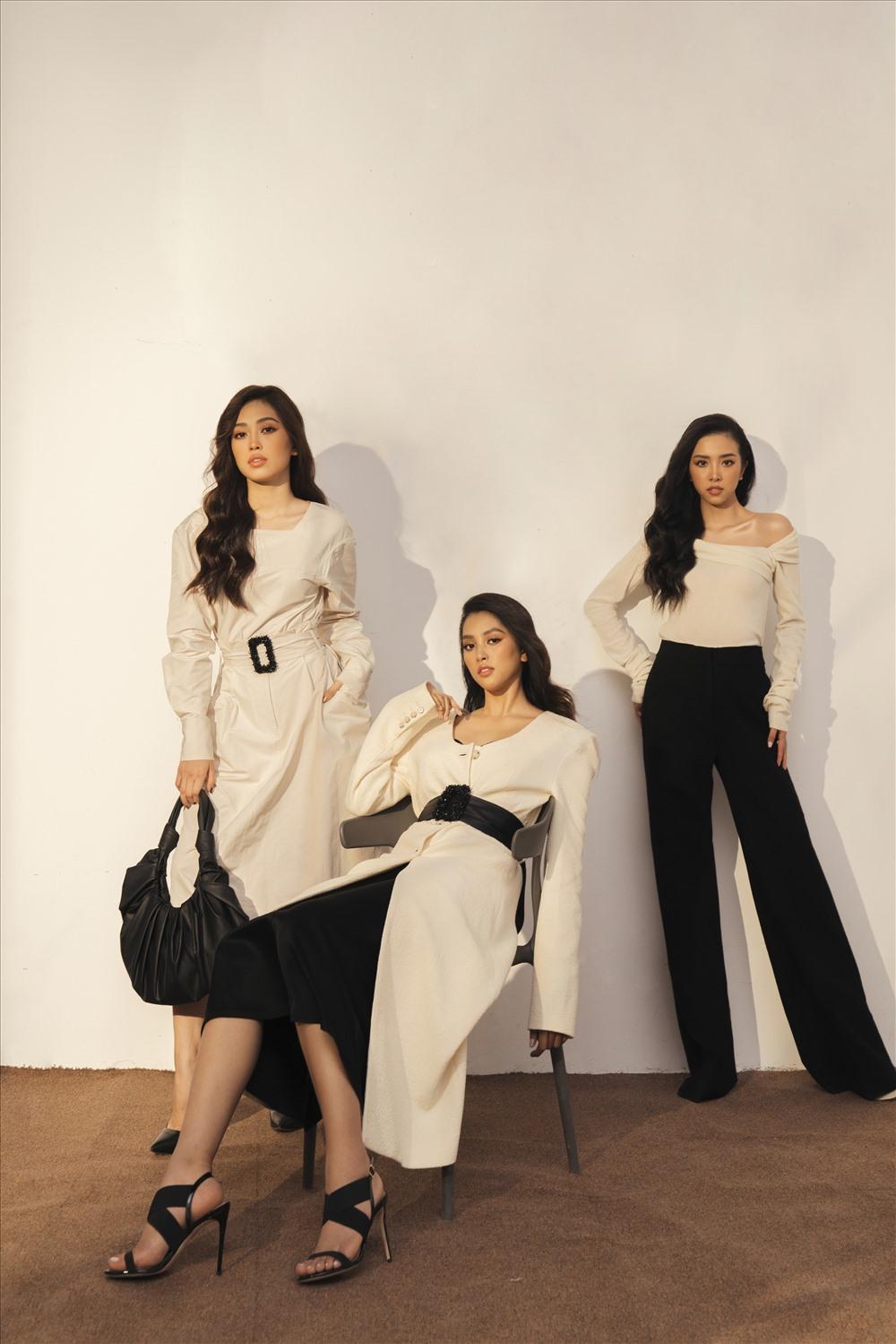 Một năm trôi qua, Hoa hậu Tiểu Vy cùng hai Á hậu Phương Nga, Thuý An  ngày càng trưởng thành về nhan sắc cũng như sự nghiệp. Ảnh: Hậu Lê.