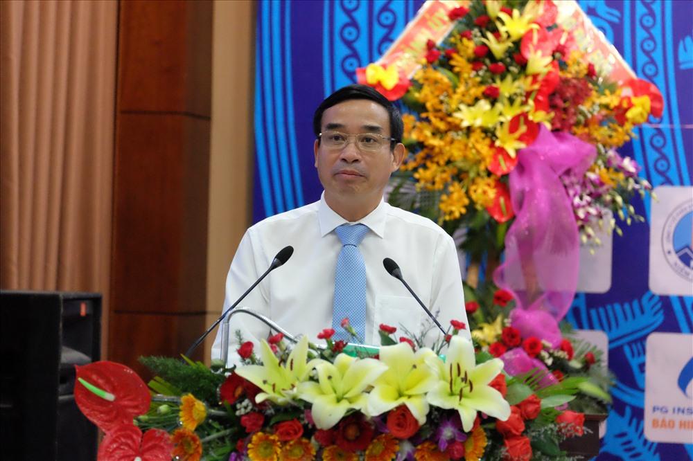 Ông Lê Trung Chinh - Phó Chủ tịch UBND TP. Đà Nẵng phát biểu tại Đại hội Hiệp hội doanh nghiệp nhỏ và vừa TP. Đà Nẵng. ảnh: H.Vinh