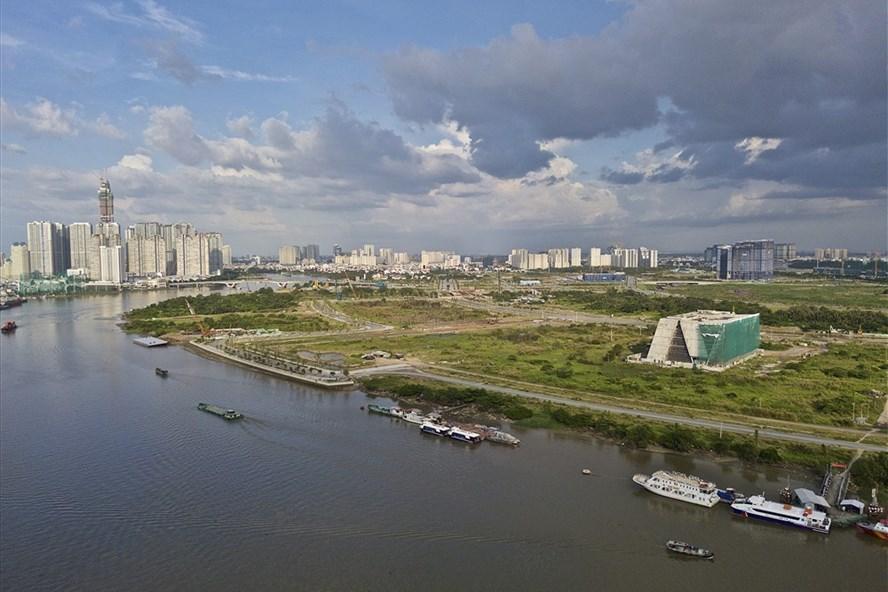 Toàn cảnh khu đô thị mới Thủ Thiêm. Ảnh: Ngọc Tiến