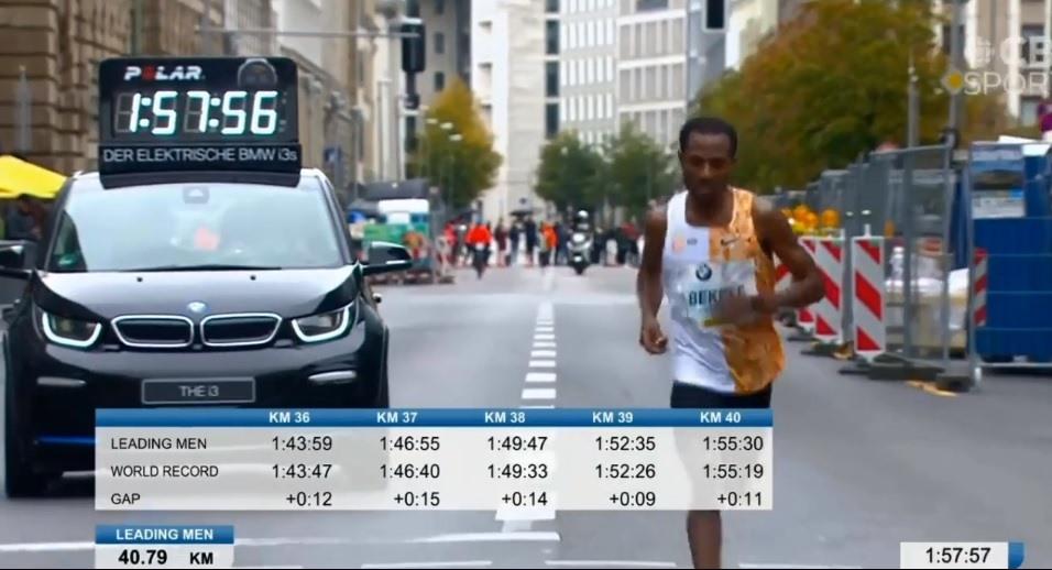Các chỉ số cực tốt của Bekele trước khi chạy 2km cuối