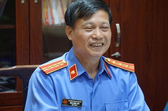 Ông Đinh Minh Tảo - Viện trưởng Viện Kiểm sát nhân dân quận Cầu Giấy.