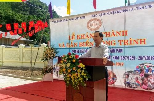 Đồng chí Đào Minh Tú phát biểu tại buổi lễ. Ảnh: M.Hiếu