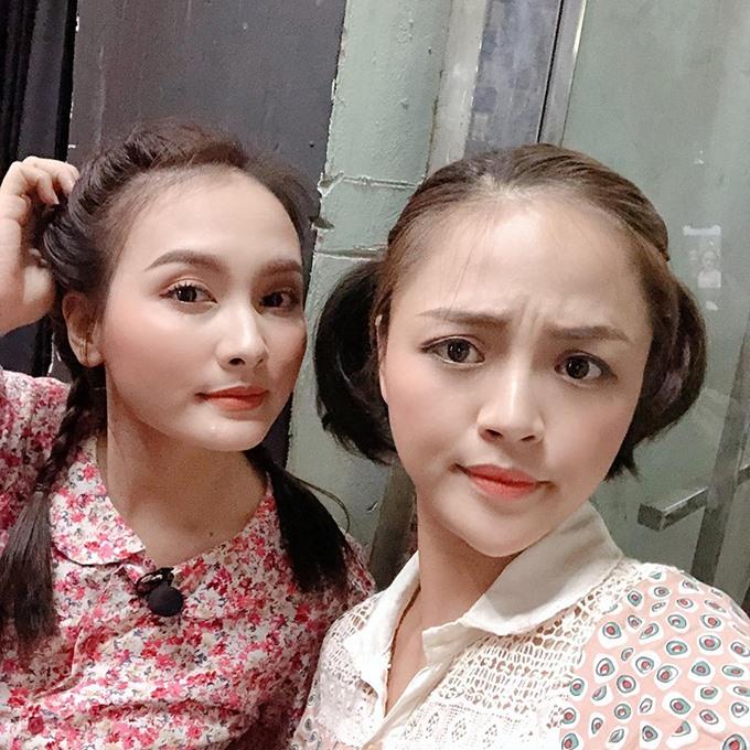 Bức ảnh chụp chung hiếm hoi của Thu Quỳnh và Bảo Thanh. Ảnh: FBNV.