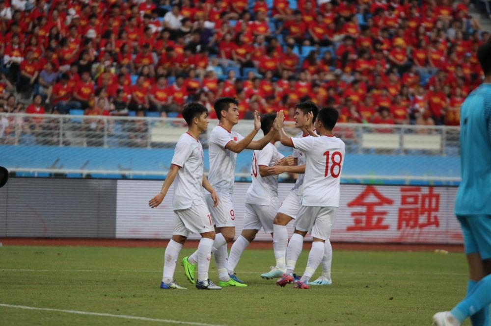 U22 Việt Nam đã có chiến thắng ấn tượng với cú đúp của Tiến Linh. Ảnh: VFF