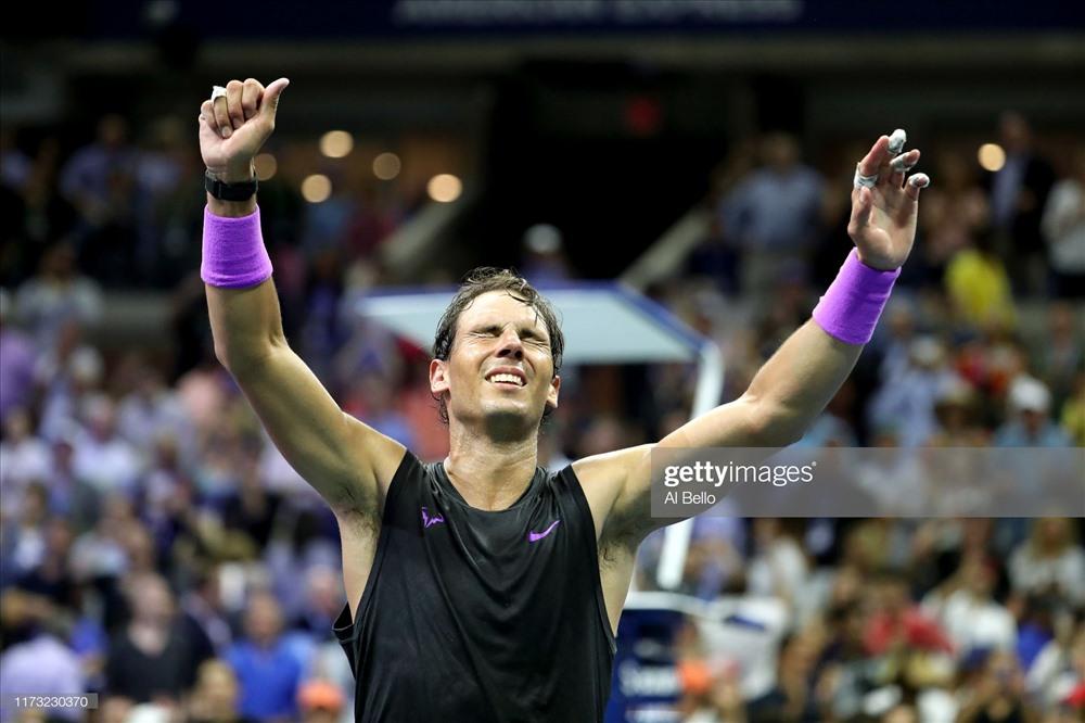 Niềm vui vỡ òa của Nadal. Ảnh: Getty.