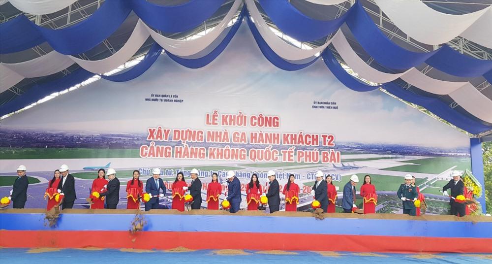 Lễ khởi công xây dựng nhà ga T2 tại sân bay Phú Bài.