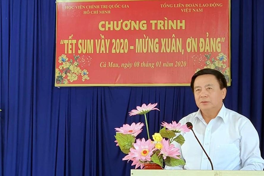 Đồng chí Nguyễn Xuân Thắng phát biểu tại chương trình. Ảnh: Nhật Hồ.