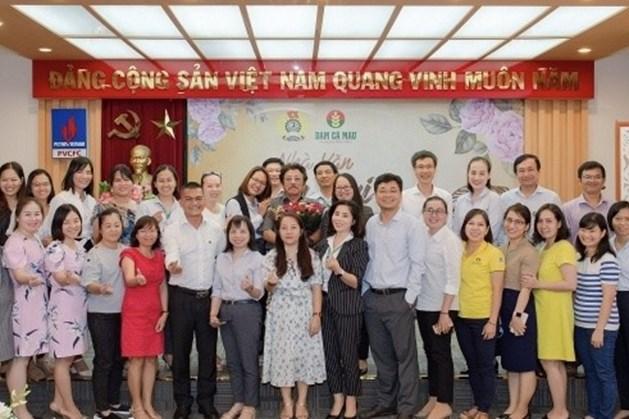 Công đoàn Công ty CP Phân bón Dầu khí Cà Mau (PVCFC) tổ chức  tọa đàm nhân kỷ niệm 90 năm ngày thành lập Hội Liên hiệp phụ nữ Việt Nam (20.10). Ảnh: CĐ DK