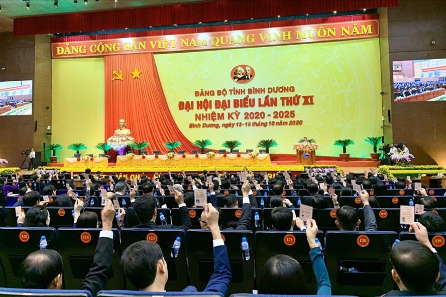 Đại hội Đại biểu Đảng bộ tỉnh Bình Dương lần thứ XI, nhiệm kỳ 2020 - 2025 đã họp phiên trù bị ngày 13.10. Ảnh: Quốc Chiến