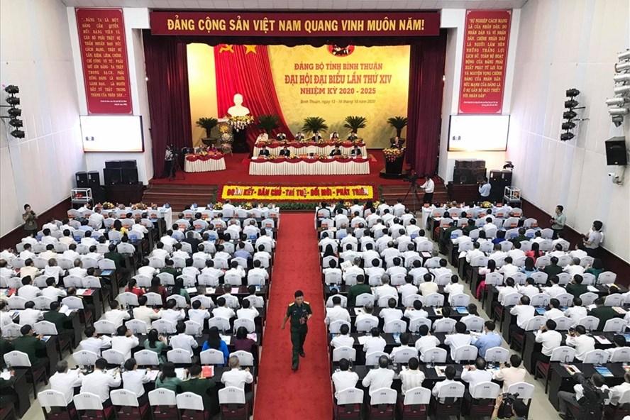 Sáng 14.10, Đại hội Đại biểu Đảng bộ tỉnh Bình Thuận lần thứ XIV, nhiệm kỳ 2020-2025, đã chính thức khai mạc. Ảnh: Hải Trần