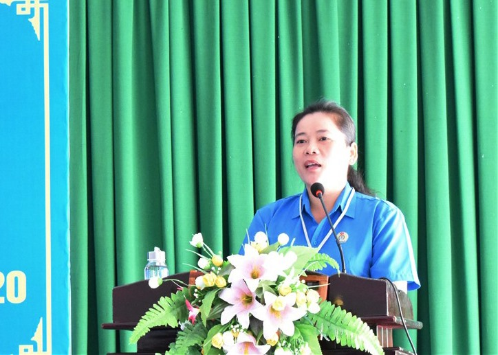 Đồng chí Lê Thị Thanh Lam, Chủ tịch LĐLĐ tỉnh Hậu Giang. Ảnh: Thành Nhân.
