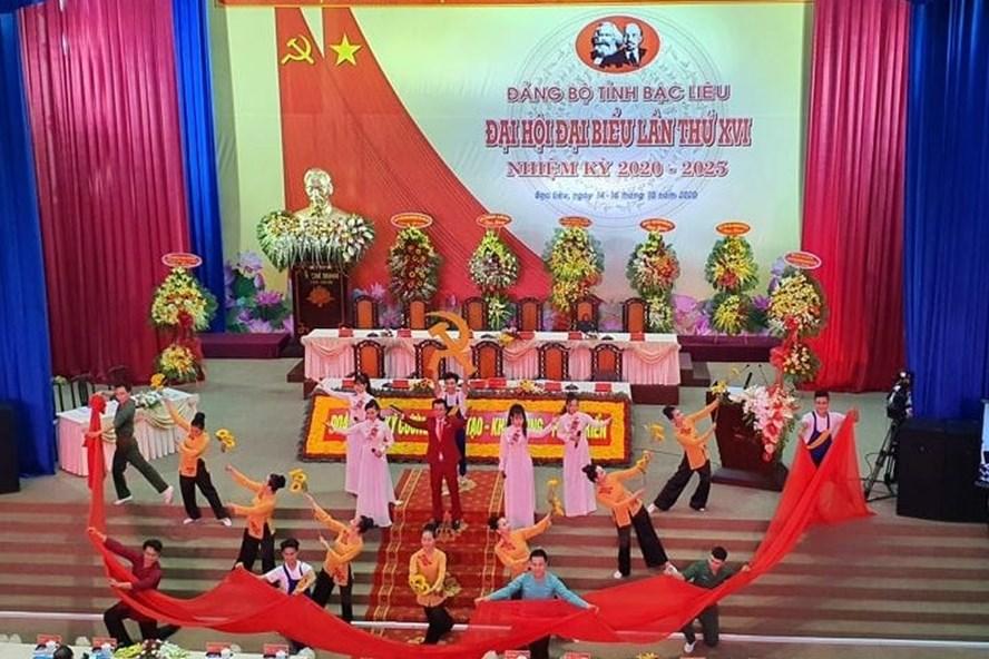 Khai mạc Đại hội Đại biểu Đảng bộ tỉnh Bạc Liêu. Ảnh Nhật Hồ