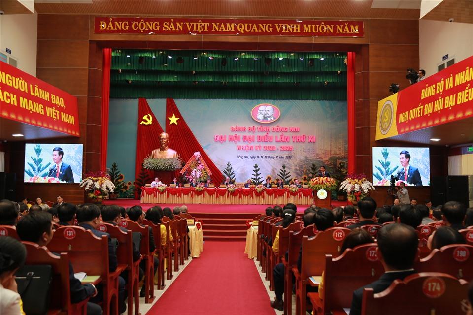 Sáng ngày 15.10, Đại hội đại biểu Đảng bộ tỉnh Đồng Nai lần thứ XI, nhiệm kỳ 2020-2025 chính thức khai mạc. Ảnh: Minh Châu