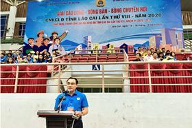 Gần 400 công nhân viên chức lao động tham gia thi đấu giải thể thao