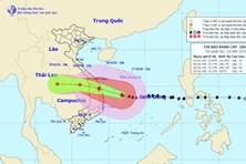 Dự kiến 9h sáng 28.10, bão số 9 giật cấp 13 sẽ đổ bộ vào đất liền