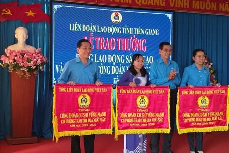 LĐLĐ Tiền Giang: Trao thưởng Lao động sáng tạo và hoạt động Công đoàn