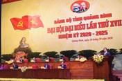 Khai mạc Đại hội Đảng bộ tỉnh Quảng Bình, rút xuống còn 1 ngày