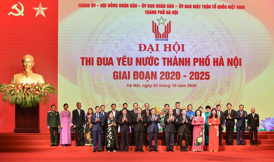 Đại hội thi đua yêu nước TP Hà Nội giai đoạn 2020-2025. Ảnh: Phạm Đông