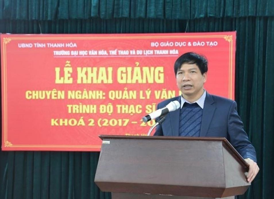 Ông Trần Văn Thức, tân Giám đốc Sở Giáo dục và Đào tạo tỉnh Thanh Hóa. Ảnh: T.L