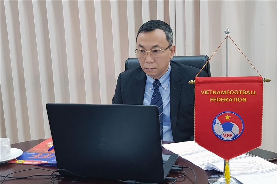 Phó Chủ tịch VFF Trần Quốc Tuấn tham dự cuộc họp của Thường vụ AFC. Ảnh: VFF