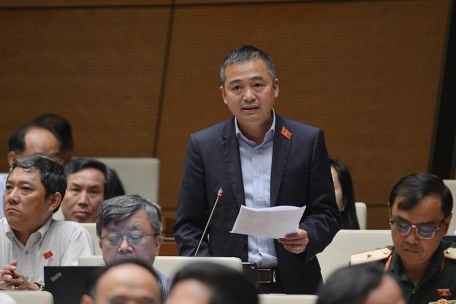 Đại biểu Nguyễn Lân Hiếu (Đoàn An Giang) phát biểu tại phiên thảo luận. Ảnh: Q.H