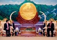 Phó Thủ tướng Phạm Bình Minh chào xã giao Lãnh đạo Cấp cao Lào