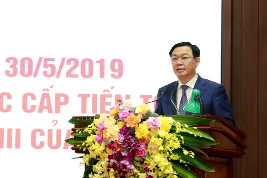 Bí thư Thành ủy Vương Đình Huệ phát biểu chỉ đạo hội nghị. Ảnh: Hanoigov