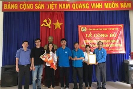 Thành lập mới CĐCS trong khu công nghiệp-  Khu Kinh tế Phú Yên