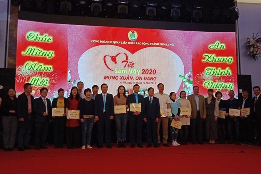 Tết sum vầy do cơ quan Liên đoàn Lao động thành phố Hà Nội tổ chức. Ảnh: Ngọc Ánh
