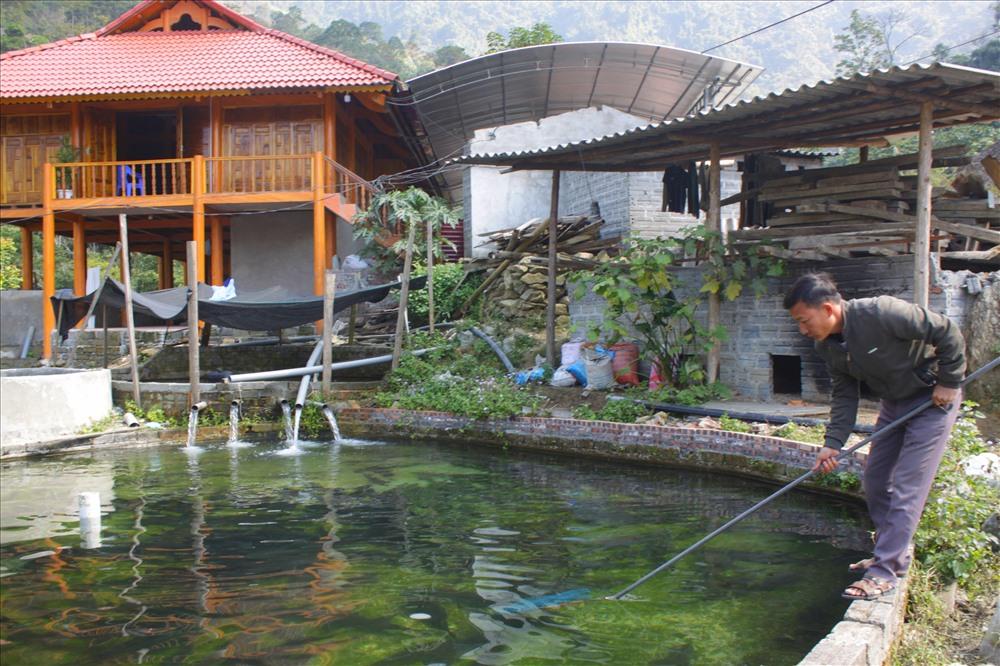 Cá hồi và cá tầm nuôi của trang trại chỉ đủ bán cho cá nhà hàng trên địa bàn tỉnh Hà Giang.