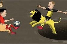 Ảnh chế: Haaland hạ bệ Messi và Ronaldo, Tottenham thua sốc Leipzig