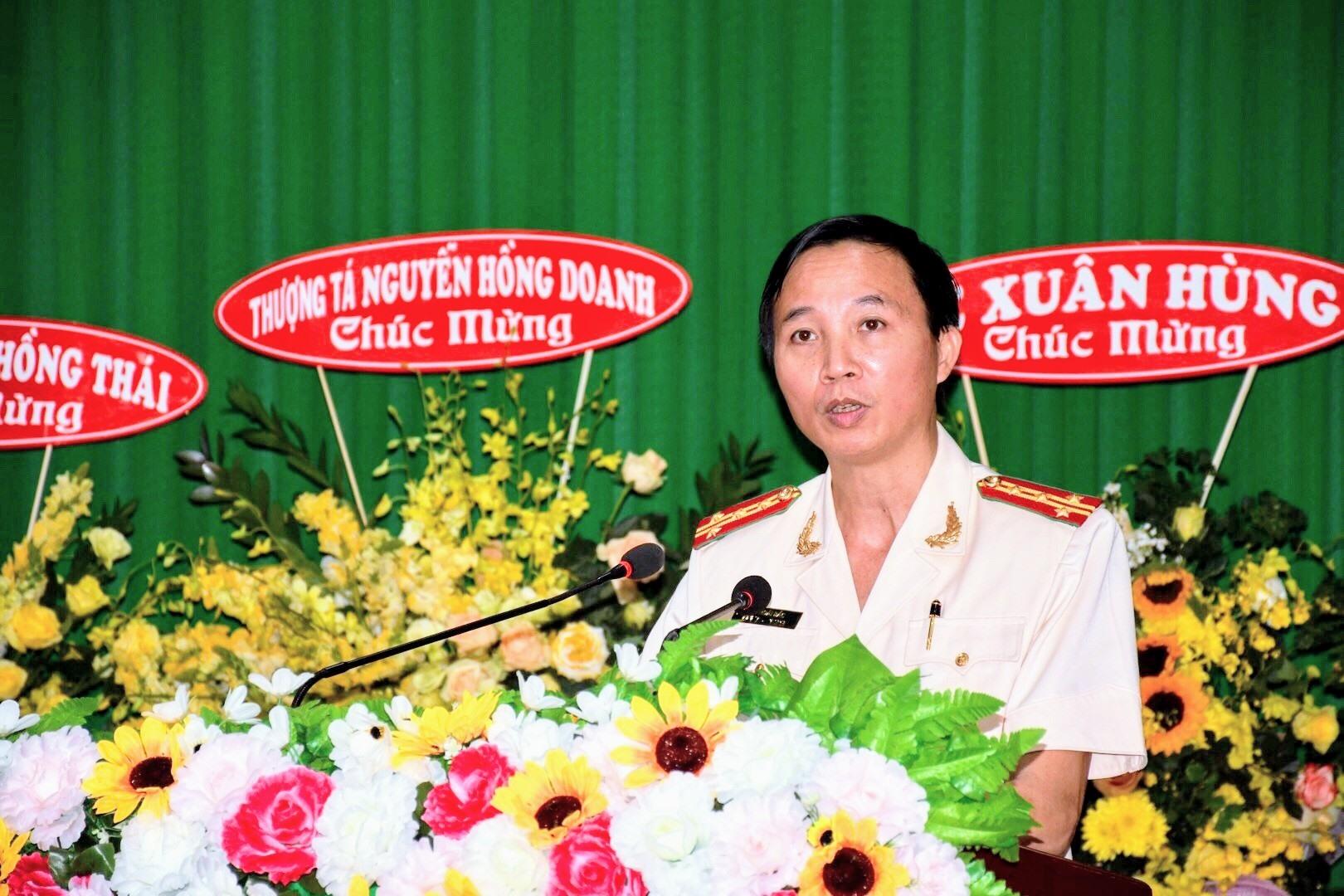 Đại tá Vũ Hoài Bắc phát biểu tại lễ nhậm chức