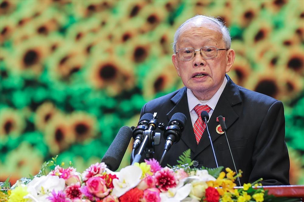 Ông Hà Ký (87 tuổi, 70 năm tuổi Đảng). Ảnh Sơn Tùng