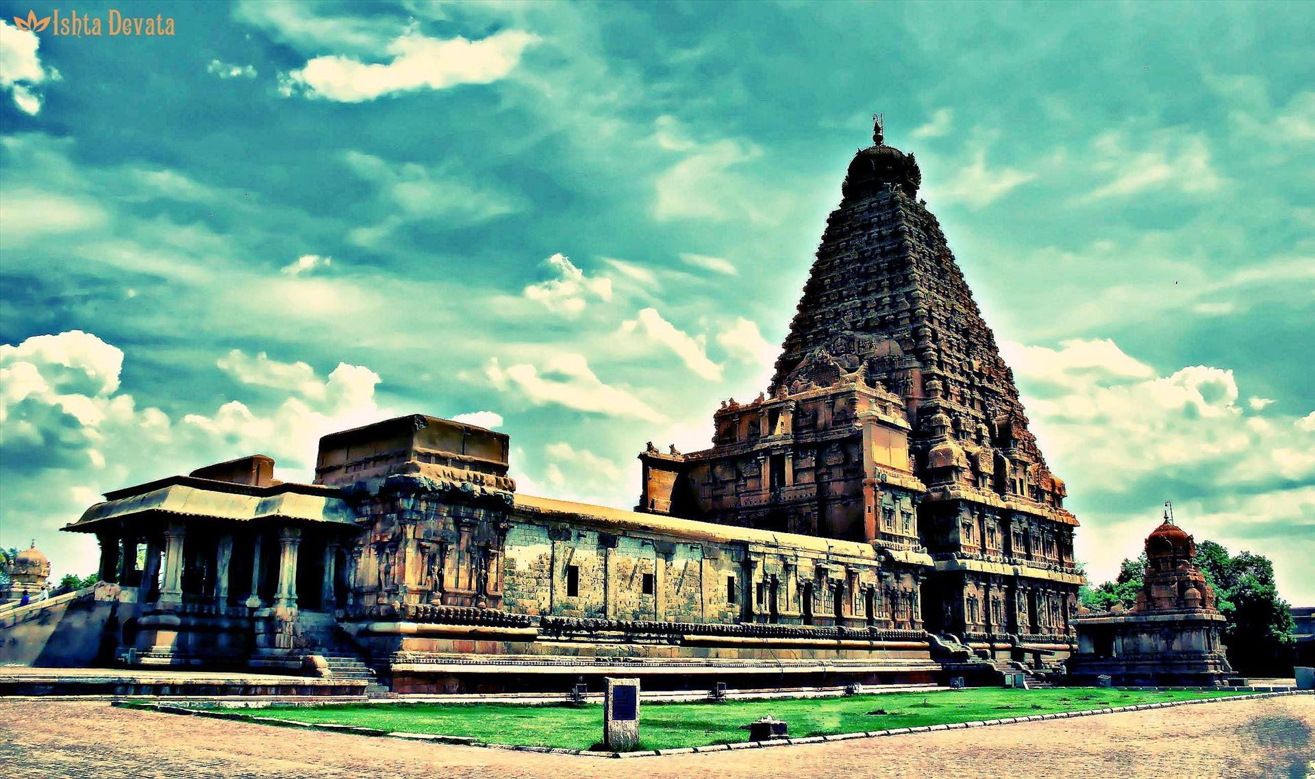 Kiến trúc Brihadeeswarar ở Thanjavur, Ấn Độ.